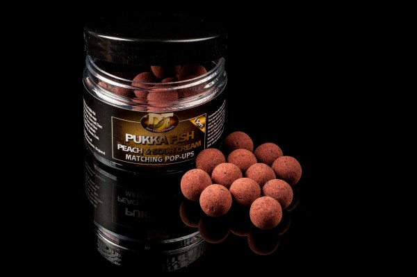 Pukka Fish Peach & Sour Cream POP-UP Boilie 15mm